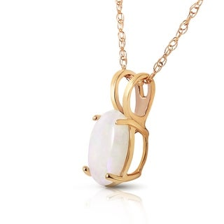 0 45 Carat 14K Solid Gold Floating In Clowds Opal Necklace