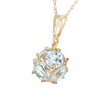 Link to 14K Solid Gold Necklace with  Natural Aquamarines Similar Items in Necklaces