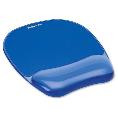 Fellowes Crystals Gel Mousepad/Wrist Rest - Blue