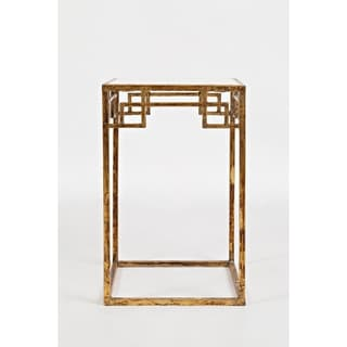 Marble and Matte Gold Nesting Tables, Set Of 2