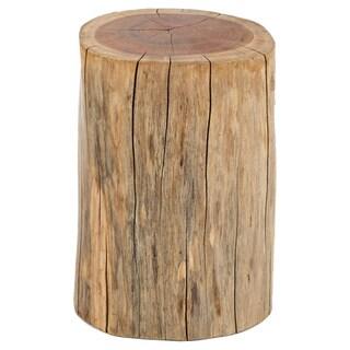 Carbon Loft Jenji Natural Brown Wooden Stump Accent Table