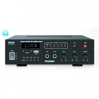 Pyle PFA600BU Bluetooth Public Address Amplifier - Compact PA Speaker (2) Mic Inputs, MP3/USB (300 Watt)