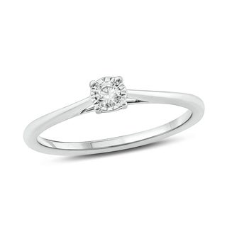 Cali Trove 1 8 Cttw Solitaire Diamond Ring In 14 Kt White Gold