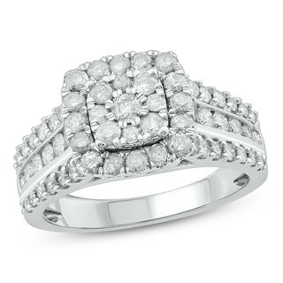Cali Trove 1 1 2 Cttw Diamond Engagement Ring In 10 Kt White Gold