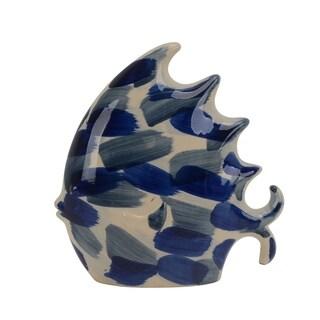 Large Size Ceramic Decorative Fish Figurine, Multicolor