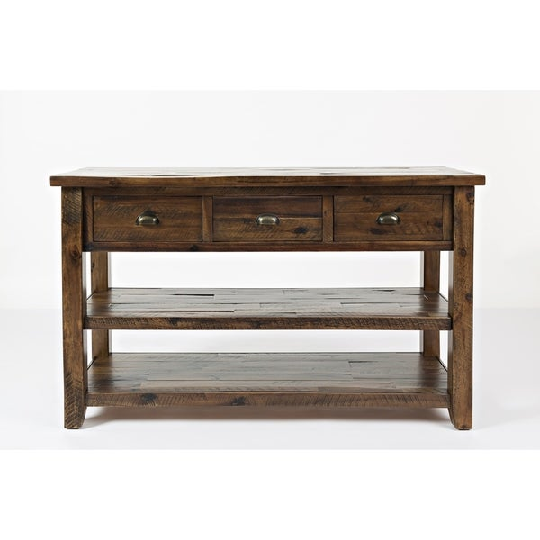 Shop Wooden Sofa Table With Three Drawers And Two Open