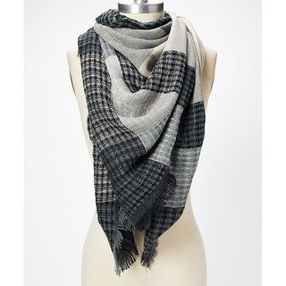 Womens Winter Plaid Scarf Long Blanket Shawl Fashion Warm Wrap Woolen - Large