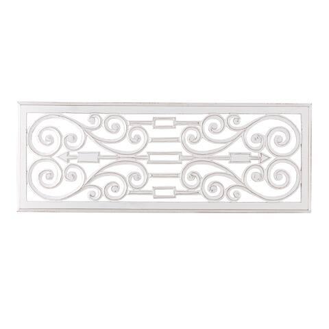 """Marina White Wall Medallion 18""""X48"""""""