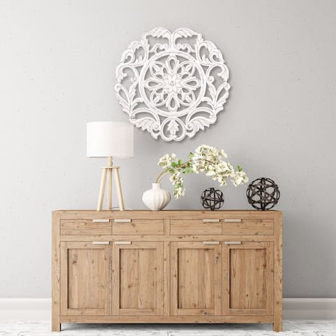 Madeleine Home - All Season Wall Decor Medallion Lassi - White