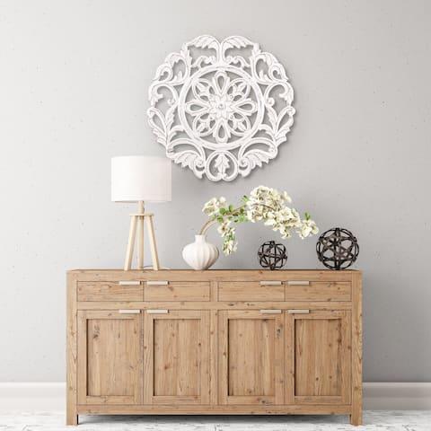 Madeleine Home - All Season Wall Decor Medallion Lassi - White