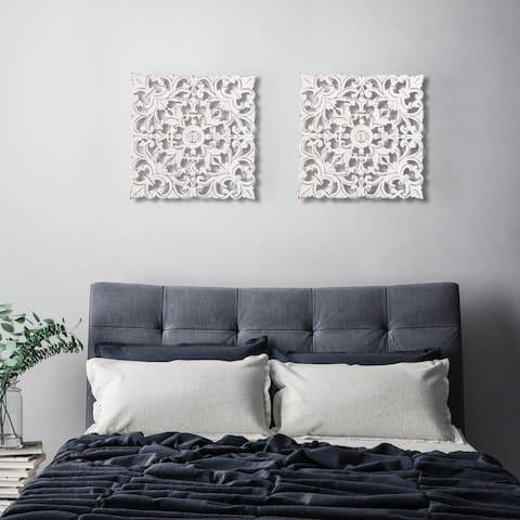 Madeleine Home - All Season Wall Decor Medallion Bianci Pack of 2 - White