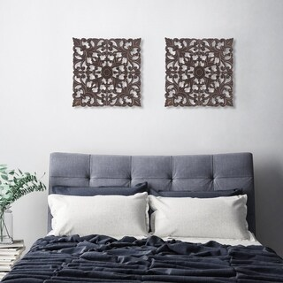 Madeleine Home - All Season Wall Decor Medallion Bianci Pack of 2 - Brown