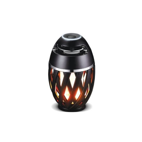 Bluetooth Speaker LED Flame Effect Light with Stand, USB Charging, IP65