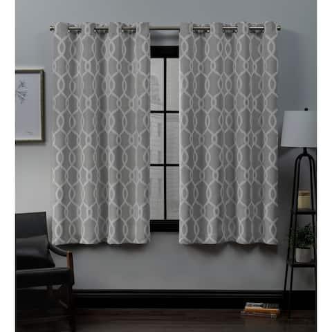 ATI Home Trilogi Woven Blackout Grommet Top Curtain Panel Pair