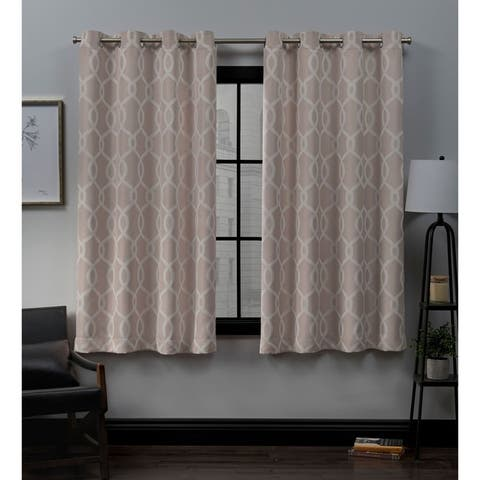 ATI Home Trilogi Woven Blackout Grommet Top Curtain Panel Pair