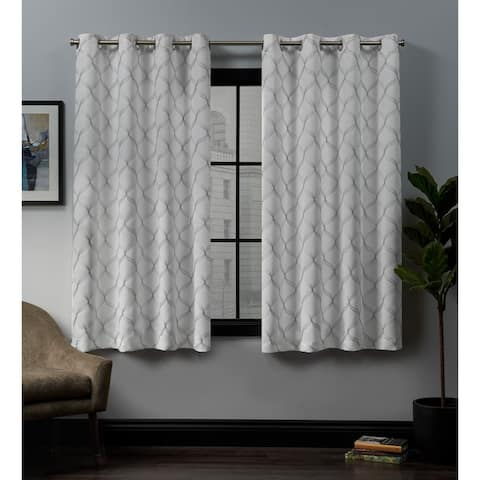 ATI Home Amelia Woven Blackout Grommet-top Curtain Panel Pair