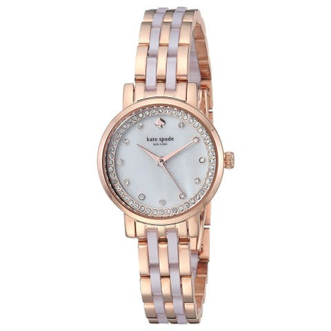 Kate Spade Women's KSW1265 'Mini Monterey' Two-Tone Stainless Steel with Blush Pink Acetate Watch