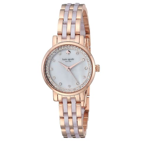 Kate Spade Women's KSW1265 Monterey Rose Gold-Tone Stainless Steel Watch