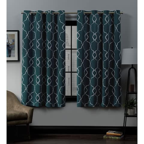 Carson Carrington Clonmore Woven Blackout Grommet-top Curtain Panel Pair