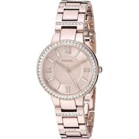 Fossil Women's ES4482 'Virginia' Pastel Pink Stainless Steel Watch