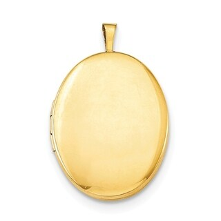 Curata 14 20 Gold Filled Polished Oval Locket 2 Pictures 21mm X 26mm 16 Chain