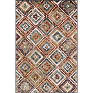 "Wallington Collection - Multi Colored Geometric Area Rug - 1' 10"" X 2' 11"""