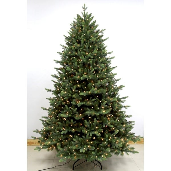 Lead Free Christmas Trees: Shop 7.5' Pre-Lit Pike River Fir Artificial Christmas Tree