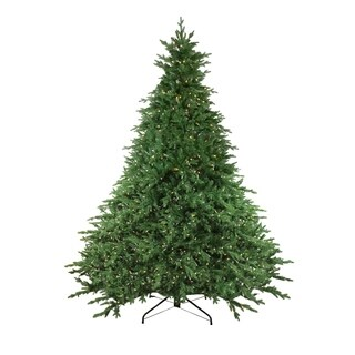 12' Pre-Lit LED Instant Connect Minnesota Balsam Fir Artificial Christmas Tree - N/A