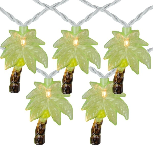 Shop Set Of 10 Tropical Paradise Green Palm Tree Patio And