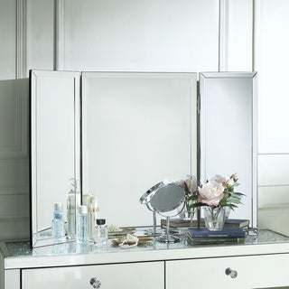 Vera Tabletop Vanity Trifold Mirror - Large or Small / Mirrored Frame