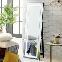 Vanna LED Light Full Length Mirror - Floor Standing / Miirored Frame