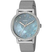 Fossil Women's ES4313 Neely Silver Stainless Steel Gray Mother of Pearl Watch,