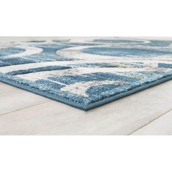 Allstar Rugs Blue And Grey