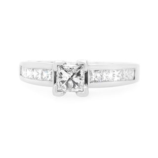 14K White Gold 0 50ct Diamond Engagement Ring