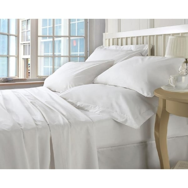 Christopher Knight 400ct Cotton Bed Sheet Set-Cal King -6 pc-White