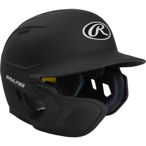 Rawlings Mach EXT Batting Helmet-Black-SR-LH