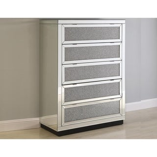 Best Master Furniture 5-Drawer Crystal Chest