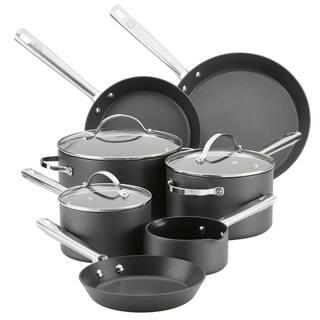 Anolon Professional Hard-Anodized 10-Piece Nonstick Cookware Set, Gray