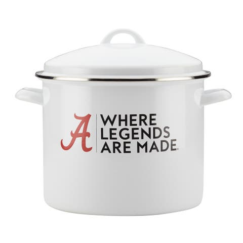 College Kitchen Collection Alabama 12-Quart Gameday Stockpot, White
