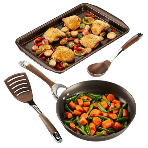 Circulon Symmetry Hard-Anodized 4-Piece Nonstick Cookware Set