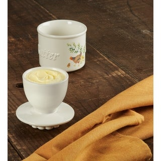 Paula Deen Dinnerware Ceramic Butter Holder, Garden Rooster