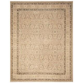 Handmade Vegetable Dye Oushak Wool Rug (Afghanistan) - 9' x 11'8