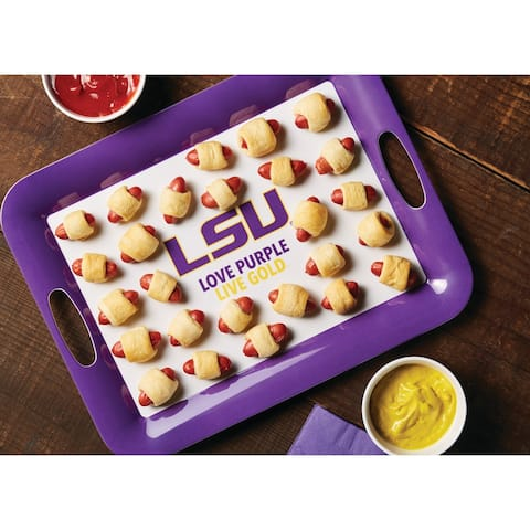 "College Kitchen Collection Serve 'n Score LSU Party Platter, Purple - 16"" x 12.5"""
