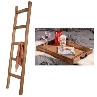 Early American Farmhouse Set - 6ft Blanket Ladder Serving Tray