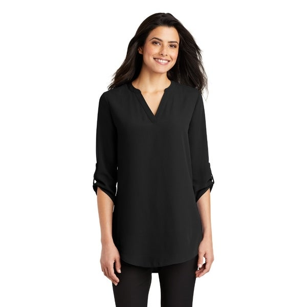 Port Authority Women's 3/4 Sleeve Tunic Blouse. Opens flyout.