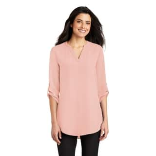 638833f2860f46 Buy Pink, V-Neck 3/4 Sleeve Shirts Online at Overstock.com | Our ...