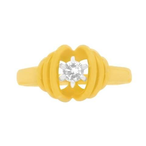14K Yellow Gold Estate Diamond Ring (J-K,VS1-VS2)