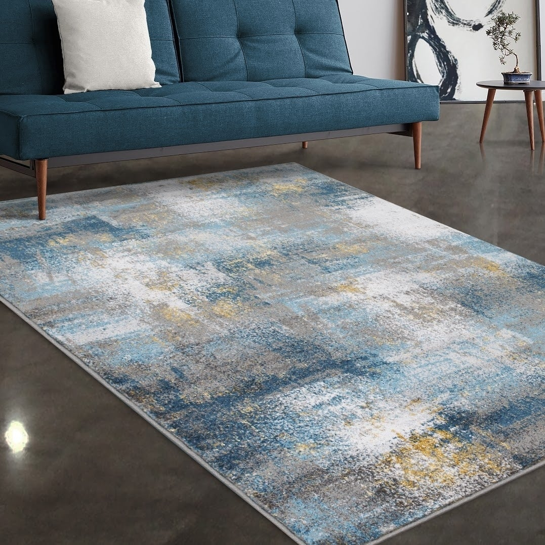 Allstar Rugs Grey And Ivory Abstract