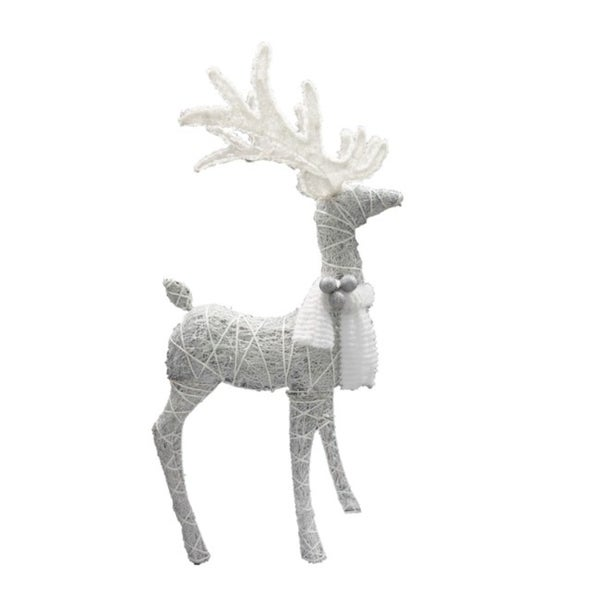 Celebrations Standing Deer Led Yard Art White 1 Pk Synthetic by Celebrations