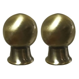 Royal Designs Ball Shape Antique Brass Lamp Finial, Set of 2